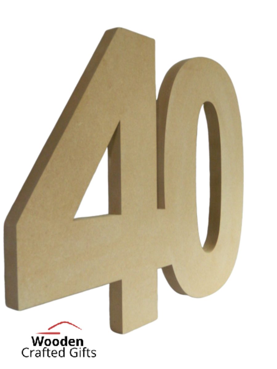 Freestanding Double Numbers (No base or engraving)