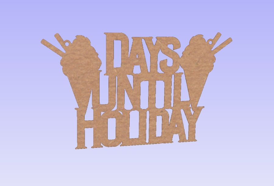 Hanging - Days Until Holiday - Plaque
