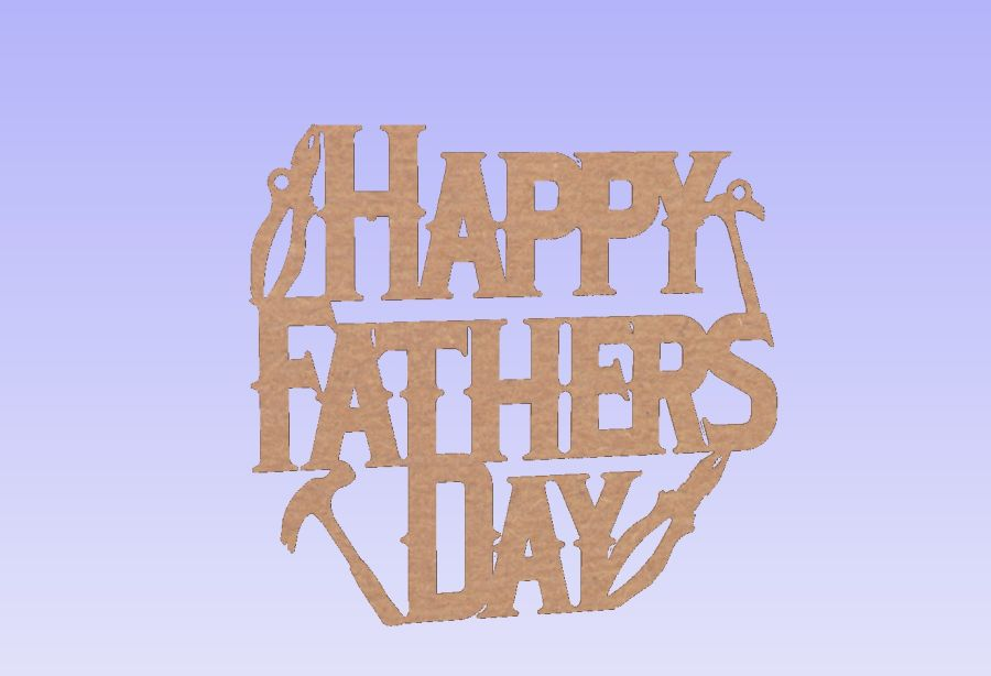 Hanging - Happy Fathers Day - Plaque