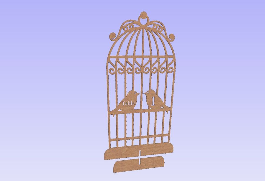 Bird Cage Table Numbers (Freestanding)