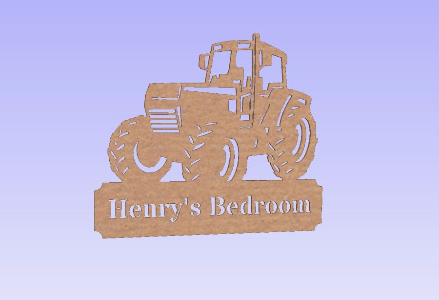 Tractor Door Plaque