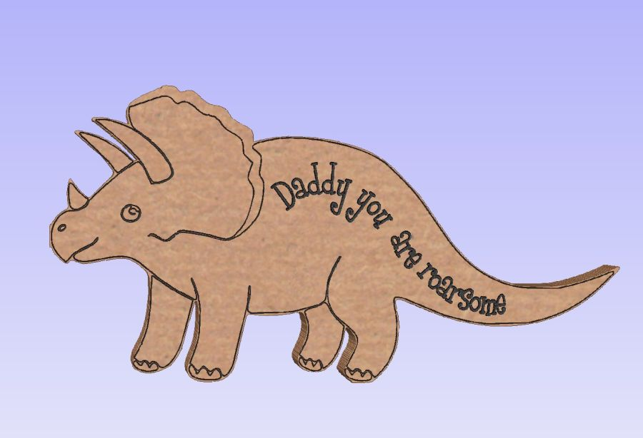 Freestanding Dino Engraved - Daddy you are roarsome