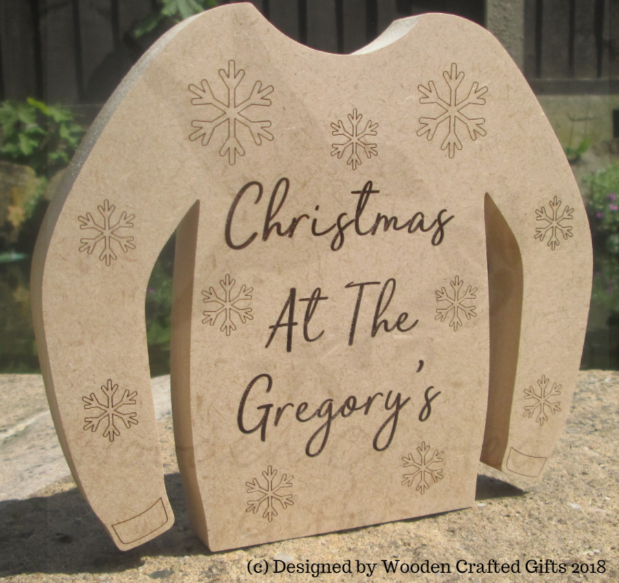 Freestanding - Christmas at the - Christmas Sweaters - 6 Designs to choose from.