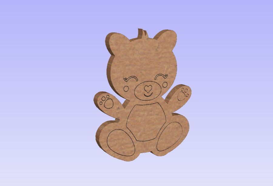 Freestanding Teddy Bear