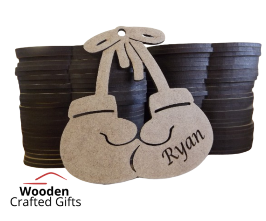 Personalised Hanging Boxing Gloves