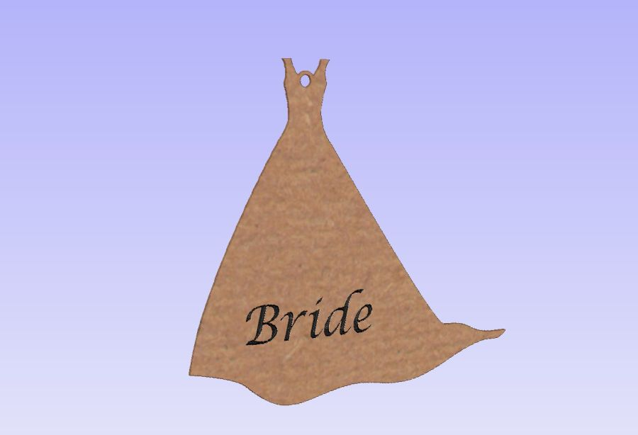 Hanging Wedding Dress Shape