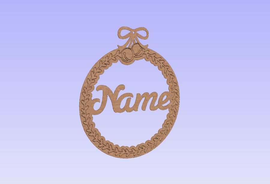 Personalised Etched Detailing Bauble