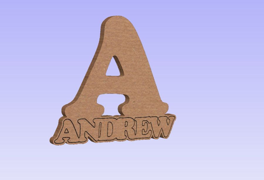 Freestanding Letter - Copper Font with free 2.5cm matching name