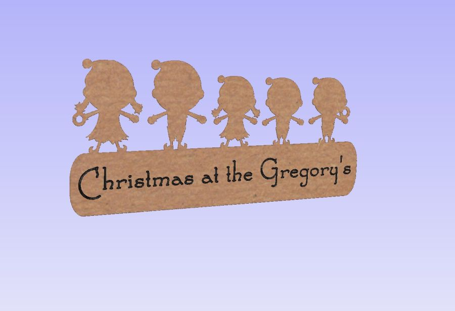 Christmas at the - Elf family plaques