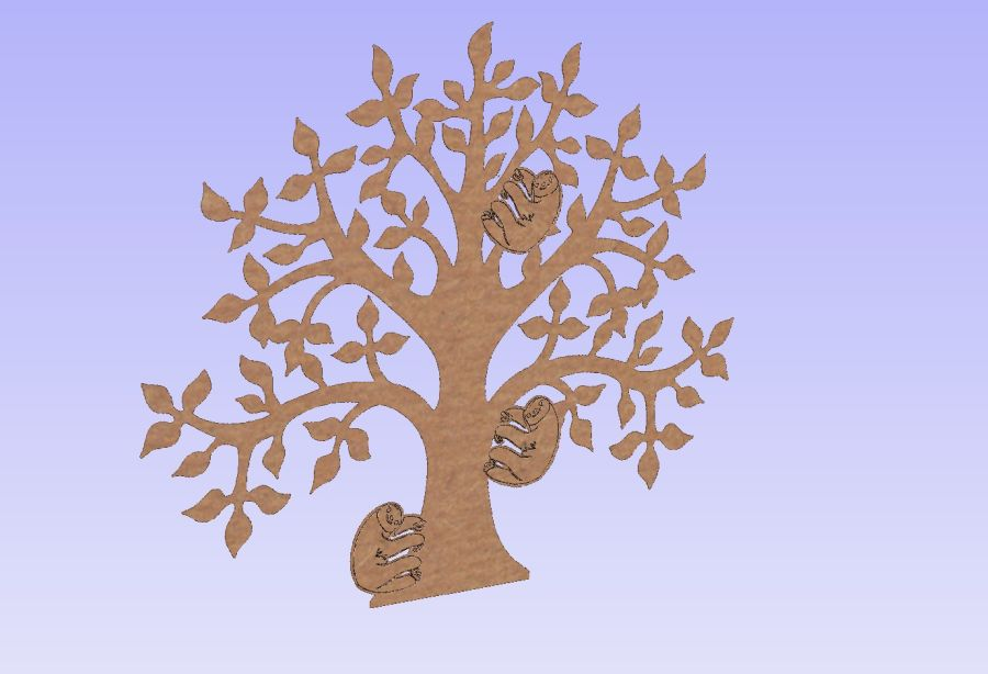 Flat Sloth Tree for Ribba Frames (15cm)