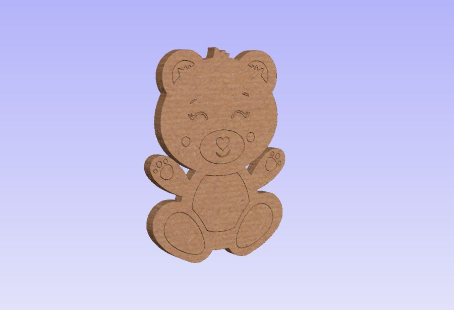 Freestanding Baby Bear