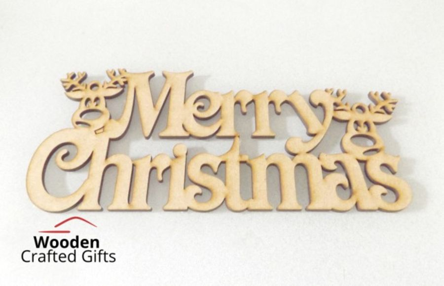 Merry Christmas With Reindeer Plaque