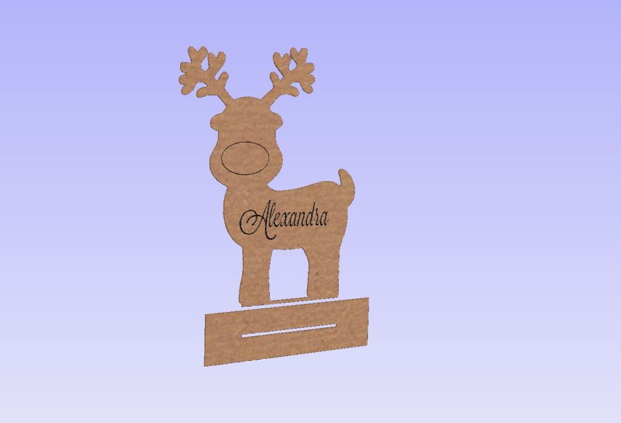 Cute Personalised Christmas Reindeers With Stands