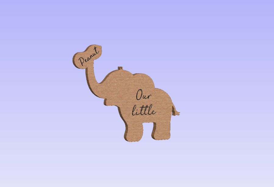 Freestanding Elephant Engraved - Our Little Peanut
