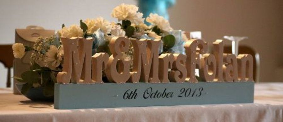 Freestanding Mr & Mrs Surname  - Currently only available in Oatmeal (Cream Colour!) £5.00 per letter
