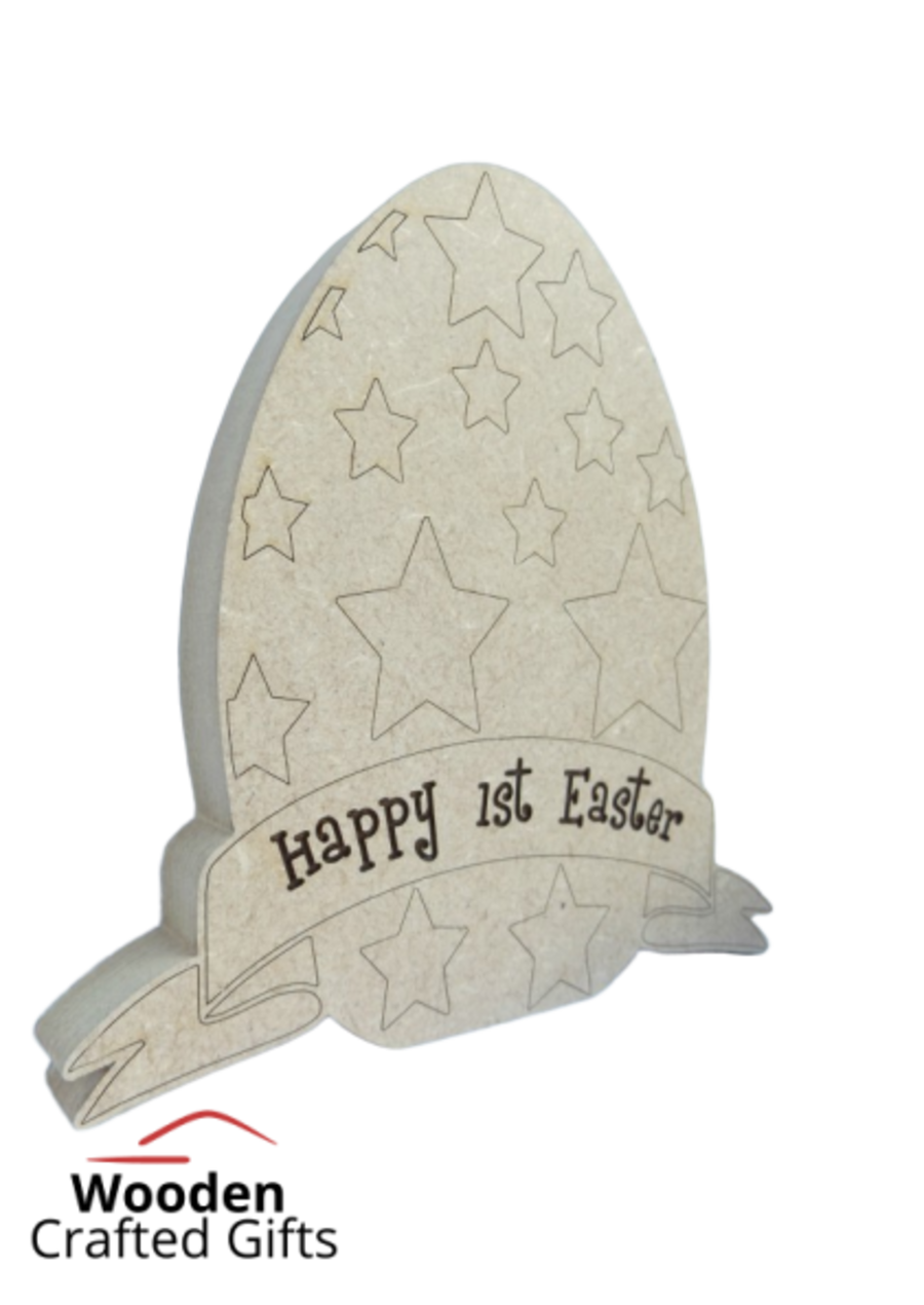 Freestanding Etched Personalised Easter Eggs