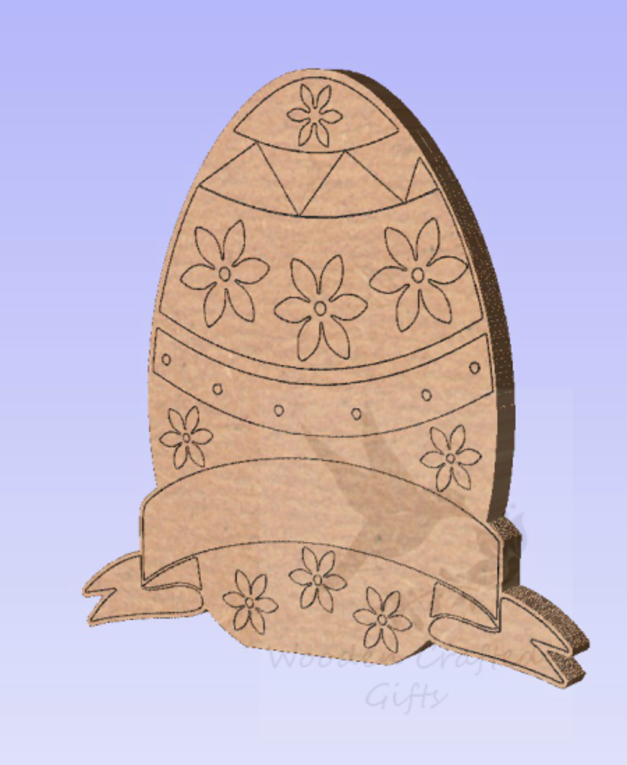 Freestanding Etched Banner Easter Eggs - 3 Designs
