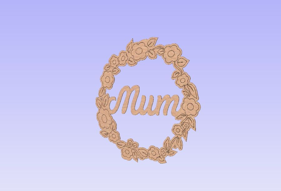 Mum Flower Wreath - 13cm Round