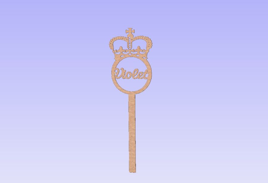 Personalised Crown Wands
