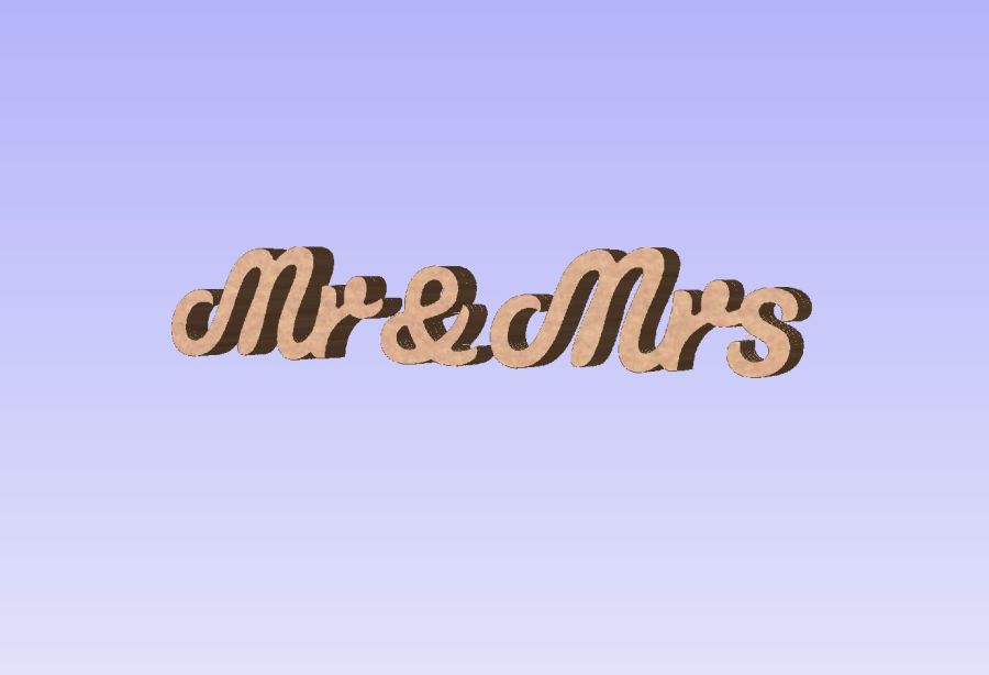 Painted - Freestanding - Mr & Mrs - Colour Oatmeal