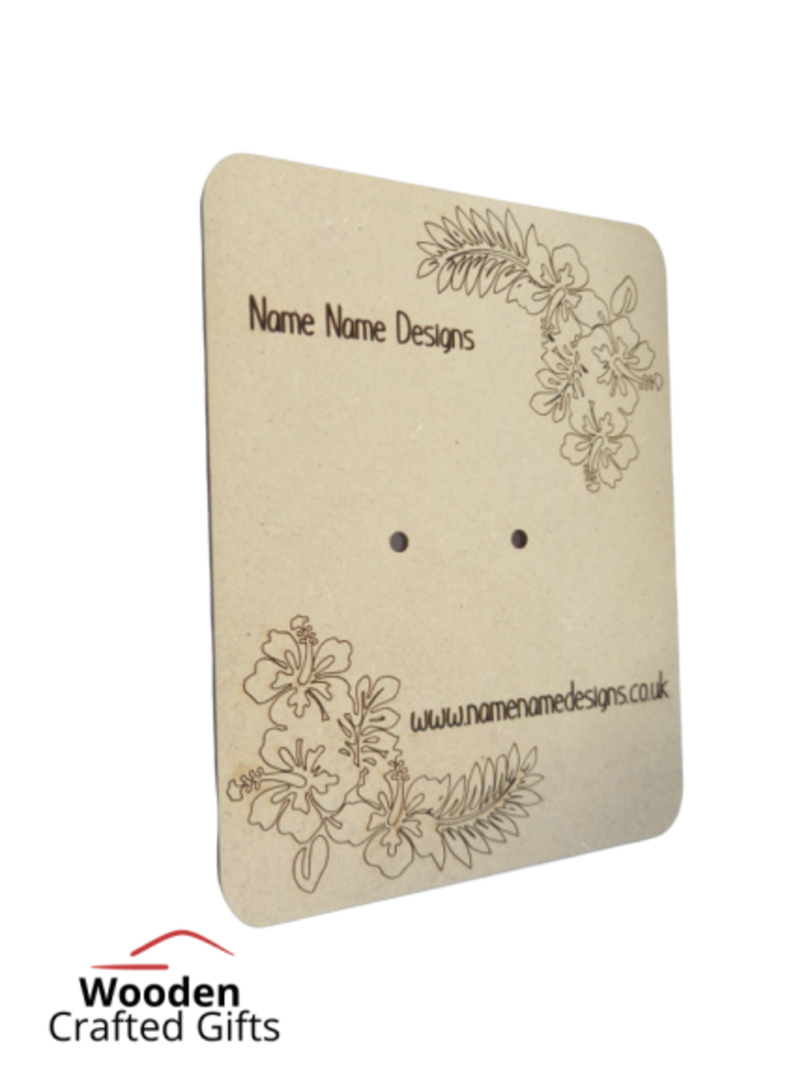 Bulk Order - Business Earing MDF Cards x100