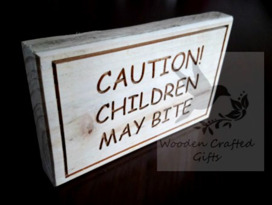 Recycled wooden Plaque - Engraved with Any Quote