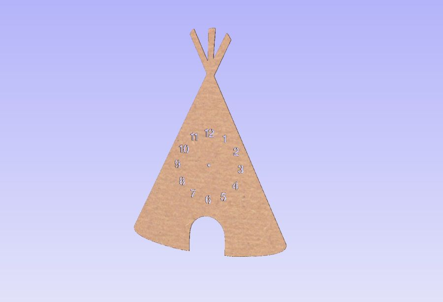 Tepee Clock - *No Clock Parts Included*