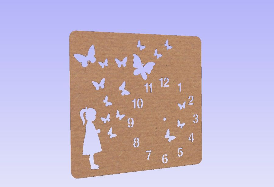 Little Girl With Butterflies Clock *No Clock Parts Included*