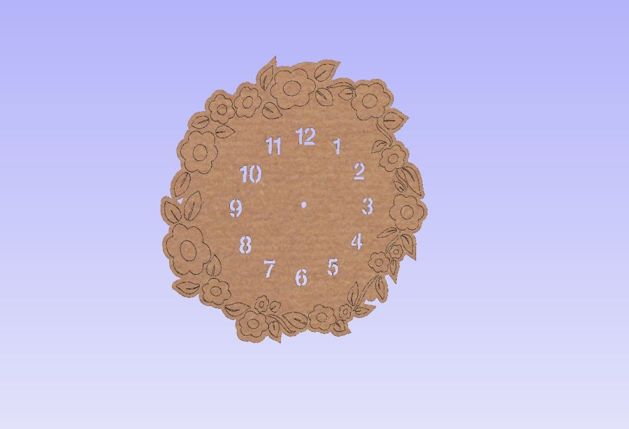 Etched Flower Clock *No Clock Parts Included*