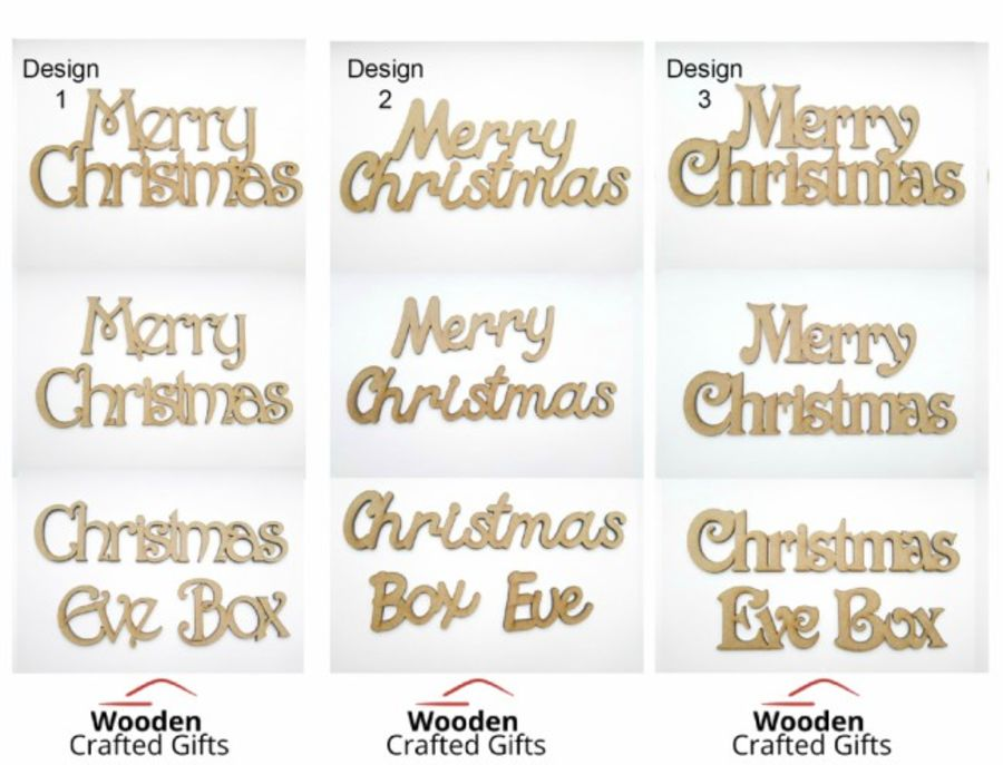 Christmas Wording Set - 5cm