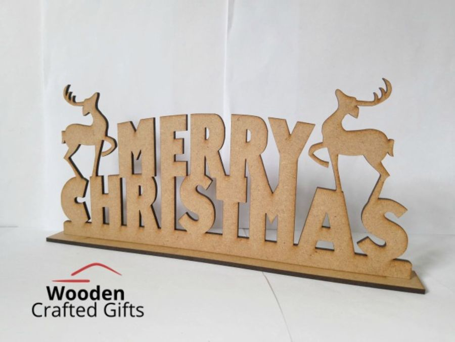 Merry Christmas Reindeer Plaque
