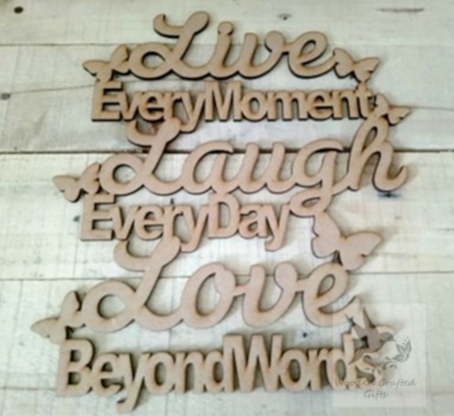 Live Love Laugh With Butterflies Plaque