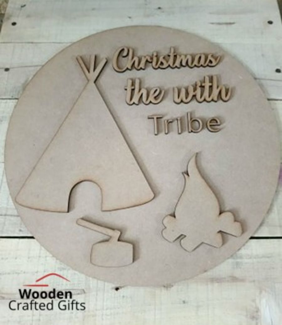 Circle Plaque - Christmas with the Tribe set