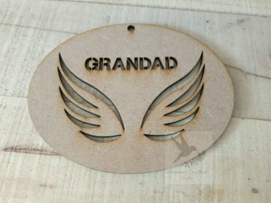 Personalised Hanging Wing Bauble