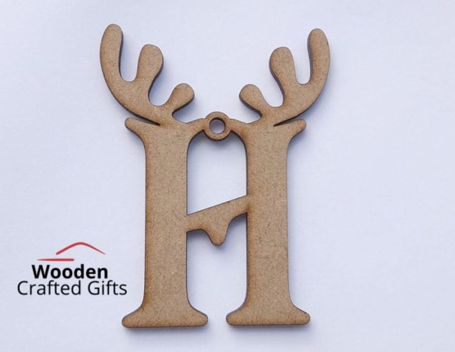 Hanging Antler Letters 8cm Or 10cm - Please select the size you require for correct price