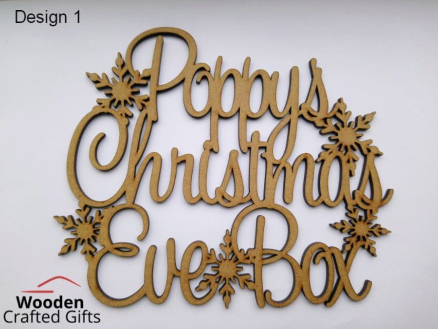 Personalised Eve Box Toppers -- Prices Differ On Each Design