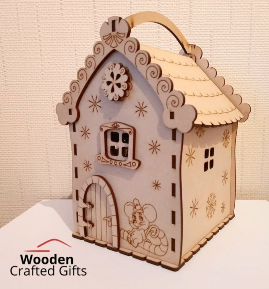 Christmas Mouse House Candy Box