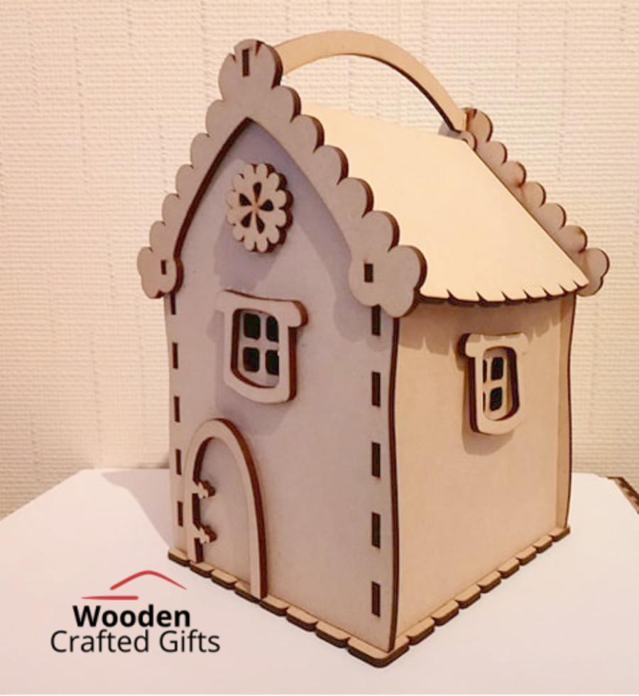 Plain Christmas Mouse House Candy Box