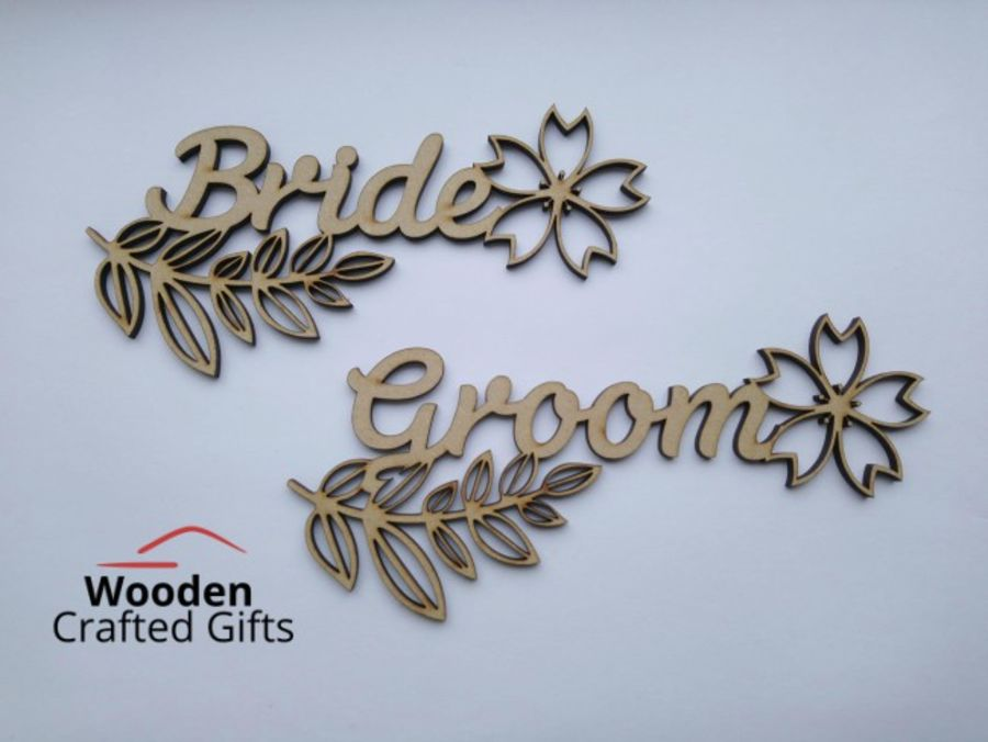 Personalised Floral Place Names - Wedding Favours