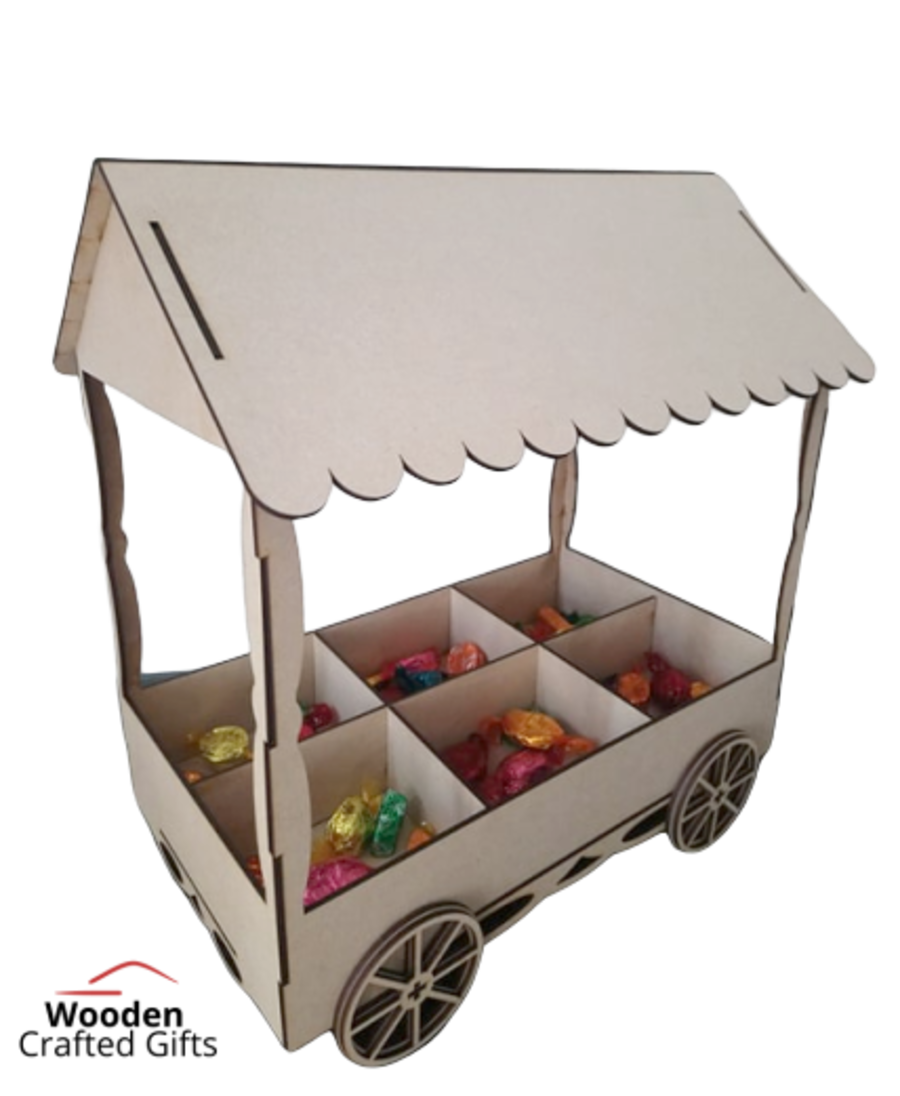 Freestanding - Table Top - Flat packed Sweet/Candy Cart