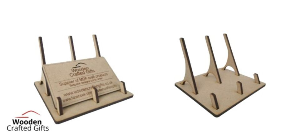 Flat Packed Business Card Holder