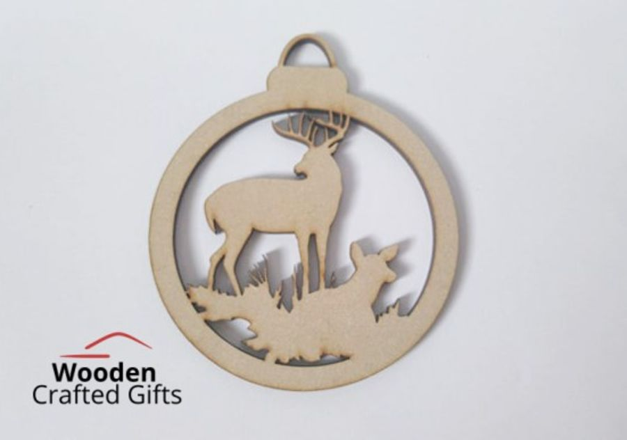 Hanging Deer Bauble