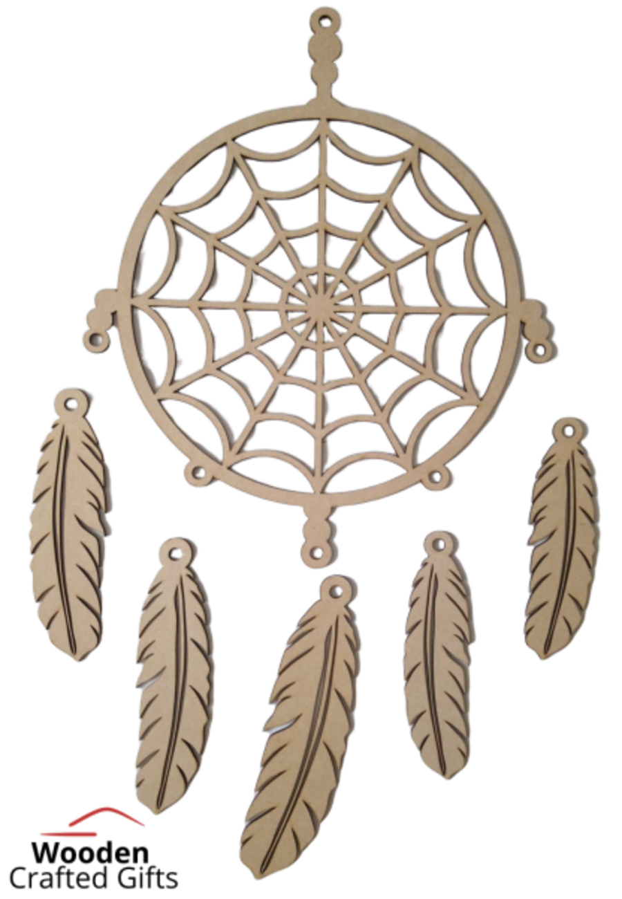Hanging Dream Catcher With Feathers