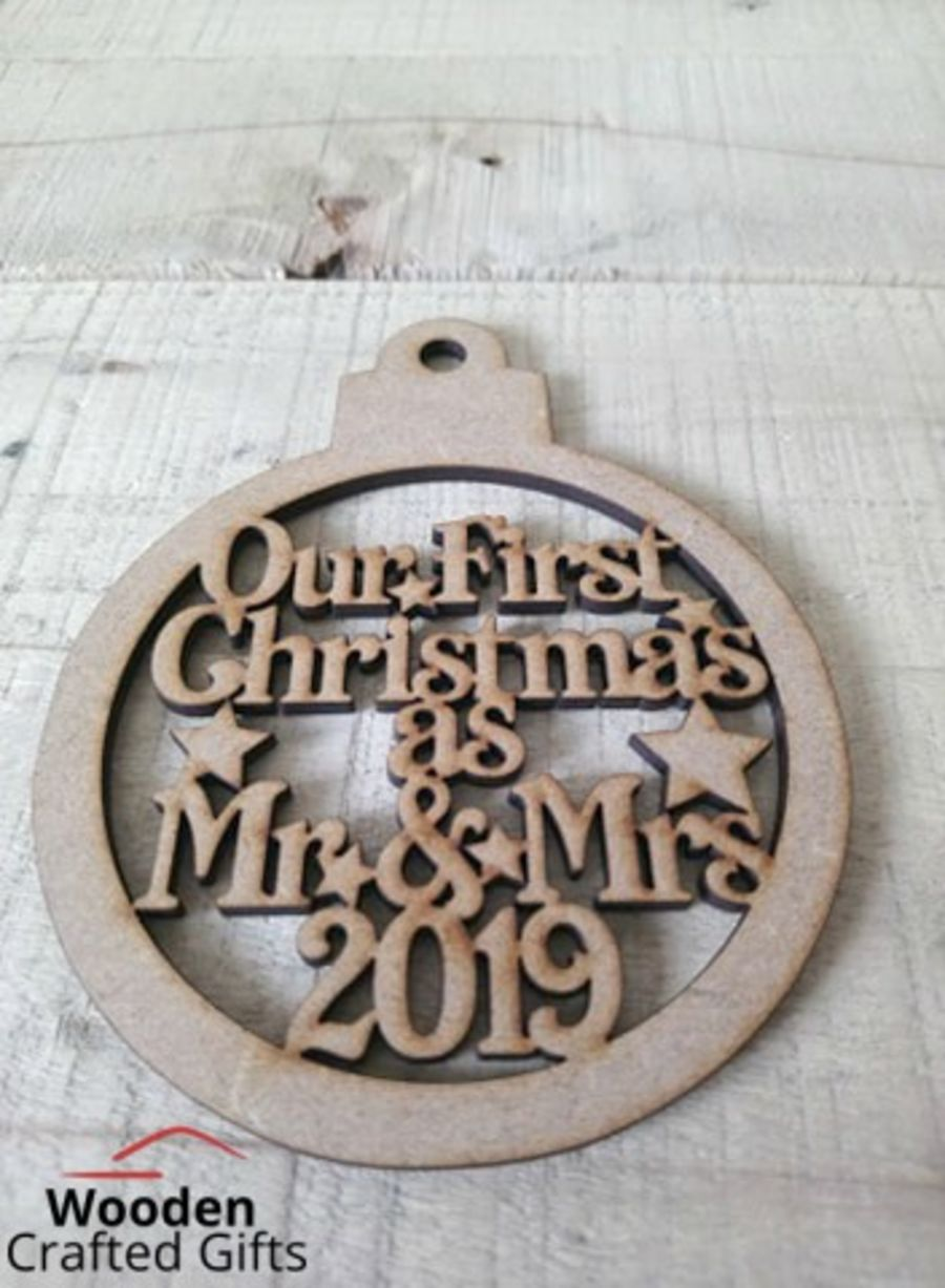 Hanging - Our First Christmas As Mr & Mrs 2020 Bauble