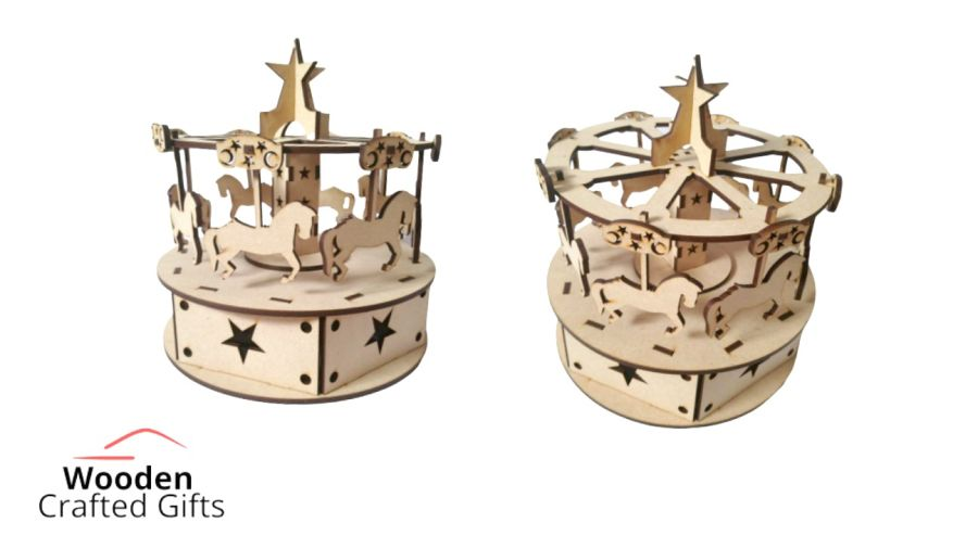 Freestanding Turn-able Carrousel - Comes flat packed