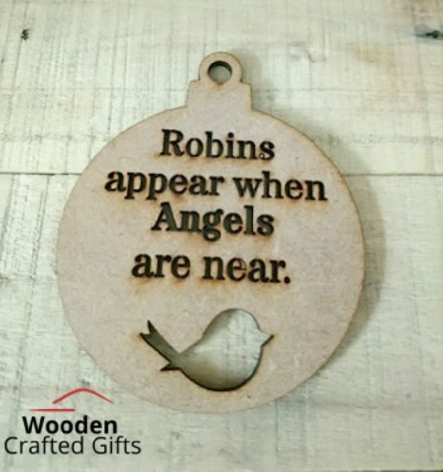 Hanging Robins Appear When Angels Are Near Bauble
