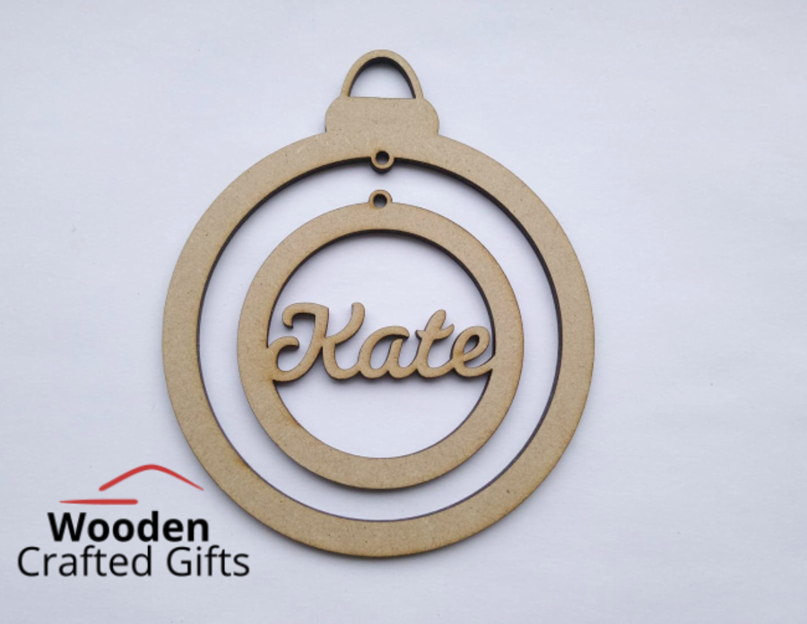 Hanging Personalised Bauble Inside Bauble
