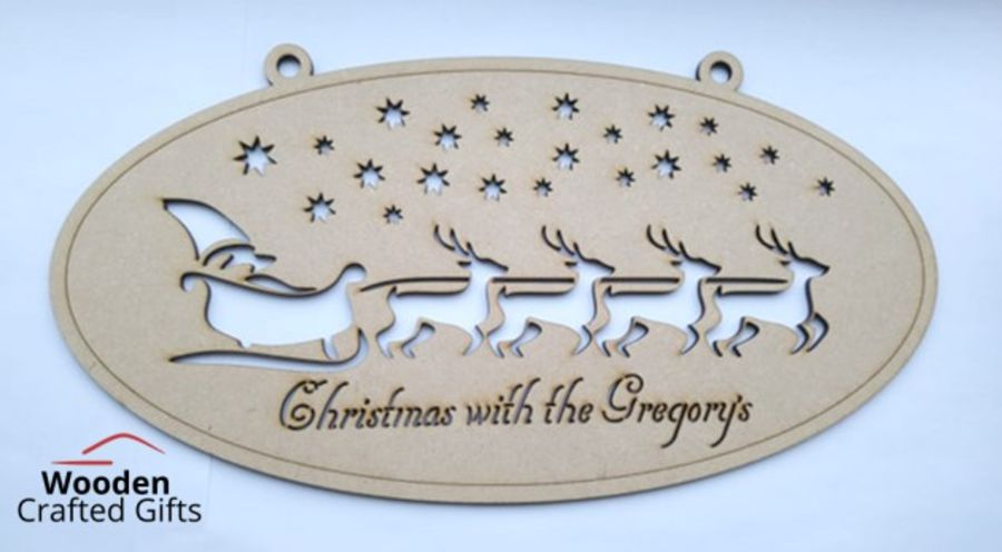 Hanging Oval Shaped Christmas at the Plaque