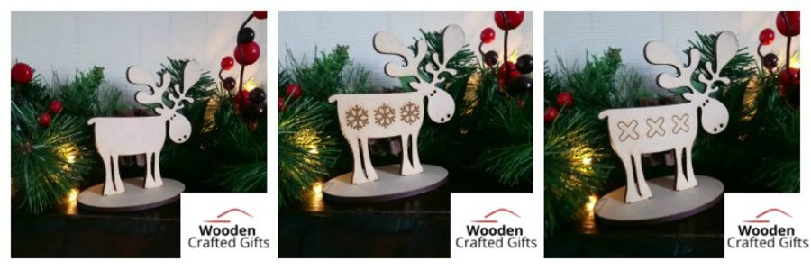 Reindeer/Moose On Base 3 Designs Available