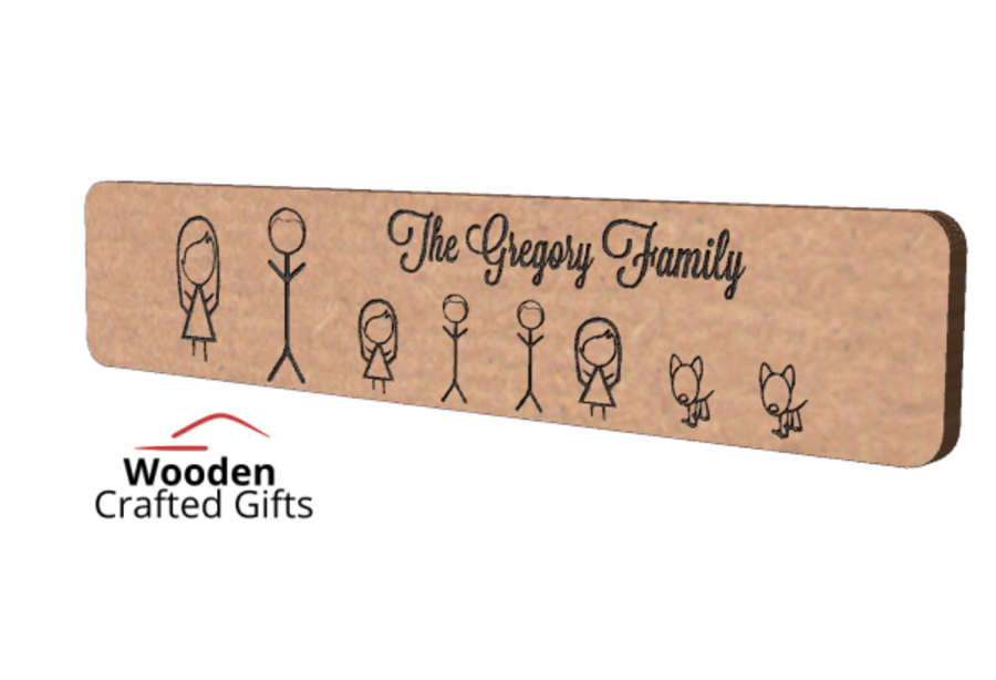 Freestanding Family Plaque - Available in Oak veneer or MDF - Please select material for price